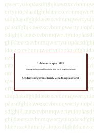 Uddannelsesplan 2011 - Optagelse.dk