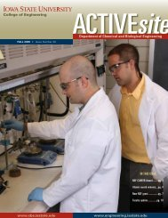 ActiveSite CBE Newsletter – Fall 2009 - Chemical and Biological ...