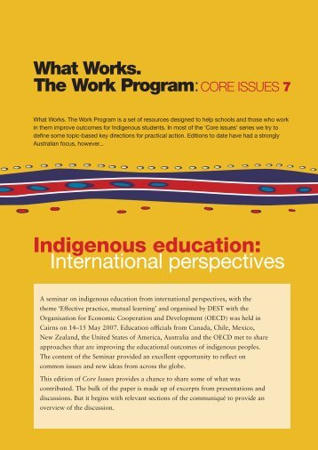 Indigenous education: International perspectives - What Works