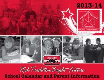2013-14 School Calendar and Parent Information Publication