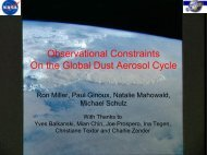 Observational Constraints on the Global Dust Aerosol Cycle C