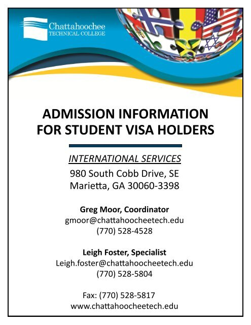 Admission Information For Student Visa Holders Chattahoochee