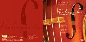 Scott Conklin VIOLIN Alan Huckleberry PIANO - Chandos
