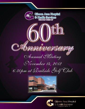 Annual Meeting November 14, 2012 6:30pm at Railside Golf Club