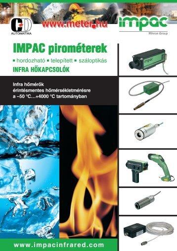 IMPAC infra hőmérsékletmérők és távadók összefoglaló katalógusa