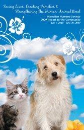 Annual Report 2008-09 - Hawaiian Humane Society