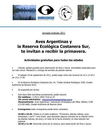 09 Jornadas Recibiendo la Primavera - Aves Argentinas