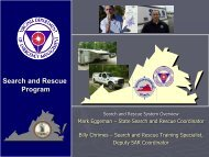 Search and Rescue Program - Virginia Department of Emergency ...