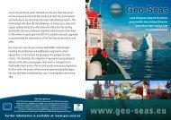 General Project Leaflet 2010 - Geo-Seas