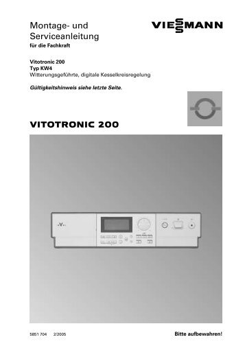 Vitogas 200-F Serviceanleitung