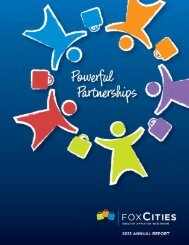 2012 Annual Report - Fox Cities Convention & Visitors Bureau