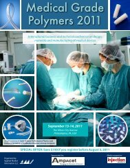 Medical Grade Polymers 2011 - AMI Consulting