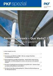 Heft 1 11/2012 Sanierungspraxis - Quo Vadis? - PKF