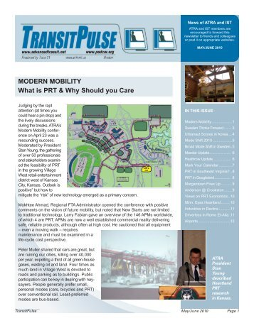 MODERN MOBILITY What is PRT & Why Should you Care