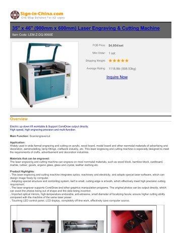 Laser Engraving & Cutting Machine - Sign In China