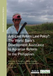 The World Bank's Development Assistance to Agrarian Reform in ...