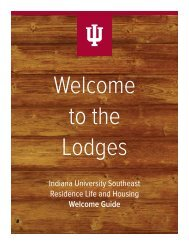 Indiana University Southeast Residence Life and Housing Welcome ...
