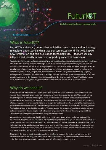 What is FuturICT? - Institut für Pervasive Computing