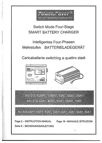 Page 1 Switch Mode Four-Stage SMART BATTERY CHARGER ...