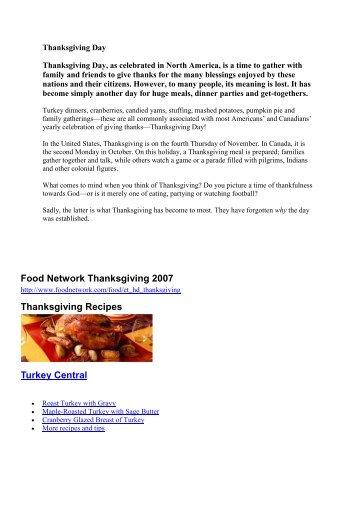 Yum yum turkey dinner food network thanksgiving 2007 thanksgiving recipes turkey forumfinder Gallery