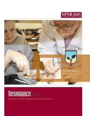 2010 Resonance - McMurry University