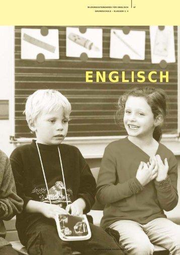 Bildungsstandard Englisch Grundschule - Bildung stärkt Menschen