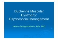 Psychosocial Management - CARE-NMD