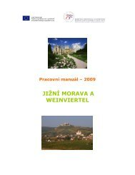 JIŽNÍ MORAVA A WEINVIERTEL - Centrála cestovního ruchu - Jižní ...