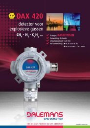 DAX 420 - Dalemans Gas Detection