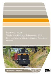 Tourist and Heritage Railways Act 2010 - Department of Transport