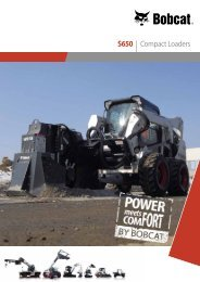 S650 Skid Steer loaders - Bobcat.eu