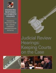 Judicial Review Hearings - Batterer Intervention Services Coalition