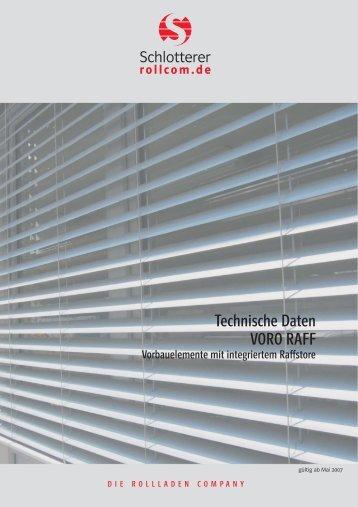 RAFF technische Daten_4-seiti... - Gnirss Fenster Gmbh&Co.KG