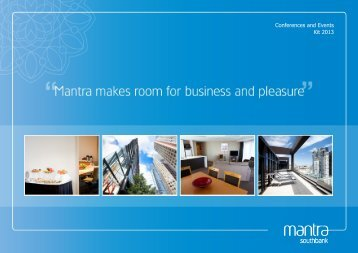Conferences and Events Kit 2013 - Mantra