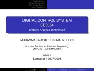 Lecture notes - School Of Electrical & Electronic Engineering - USM