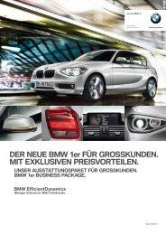 DER NEUE BMW 1er FÜR GROSSKUNDEN. MIT EXKLUSIVEN ...