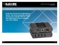 Product Data Sheets (pdf)...4-Port USB 2.0 - Black Box