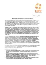 ALP Management response letter to Mid-term ... - CARE Danmark