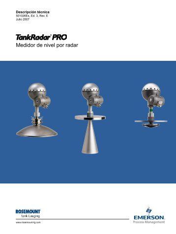 Medidor de nivel por radar - Rosemount Tank Radar