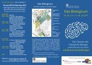 Neurex BCCN Meeting 2007 - Fakultät für Biologie - Universität ...