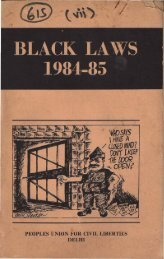 Black Laws in India Part 1 - People's Union for Civil Liberties