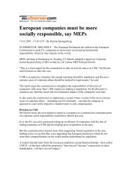 European companies must be more socially responsible, say MEPs