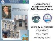 Large Marine Ecosystems of the Arctic Regional Seas