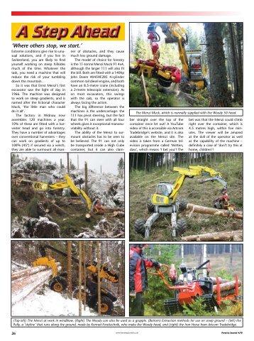 The Menzi Muck - Forestry Journal