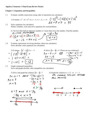 Fsa Algebra 1 Eoc Review Packet Answers - what is the goal ...