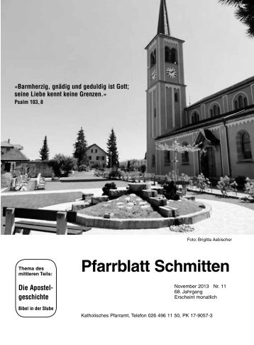 Pfarrblatt Nr. 11 - Pfarrei Schmitten