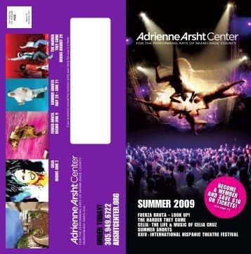 2009 Summer Brochure - Adrienne Arsht Center