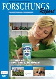 Schwerpunkt: Funktionelle Lebensmittel ... - BMELV-Forschung