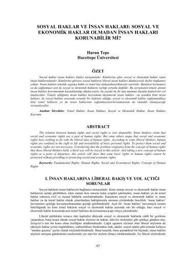 sosyal haklar ve insan hakları - Sosyal Haklar Sempozyumu