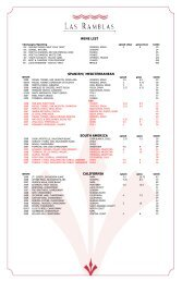 wine list spanish/ mediterranean south america ... - Hotel Contessa